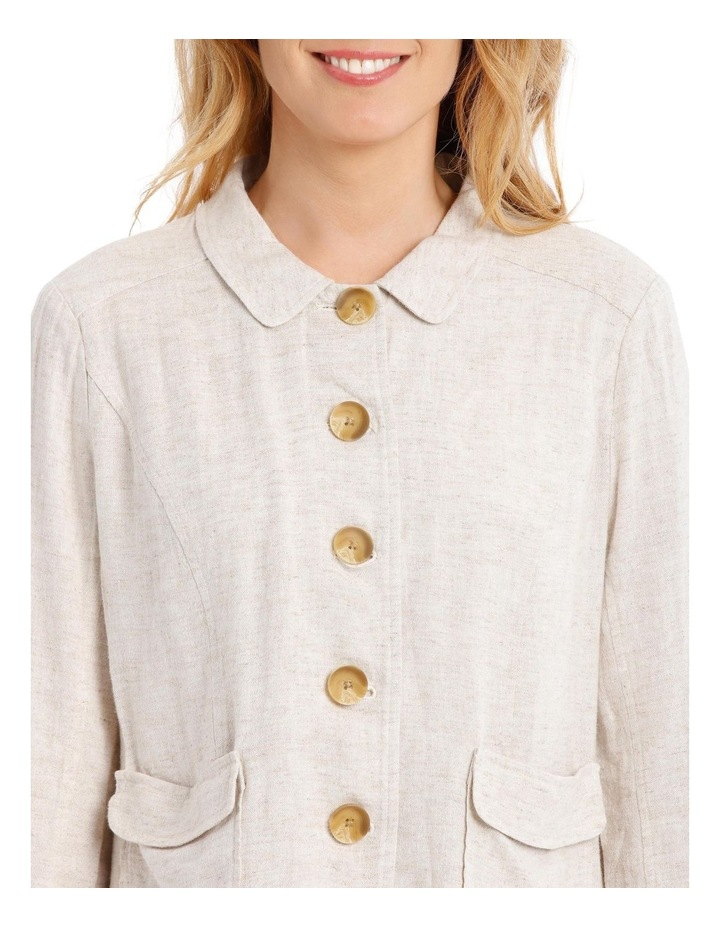 Button Through Short Jacket With Collar & Pockets image 4