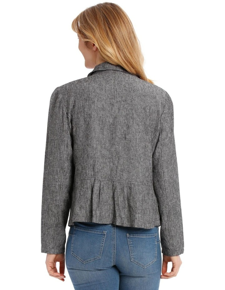 Button Through Short Jacket With Collar & Pockets image 3
