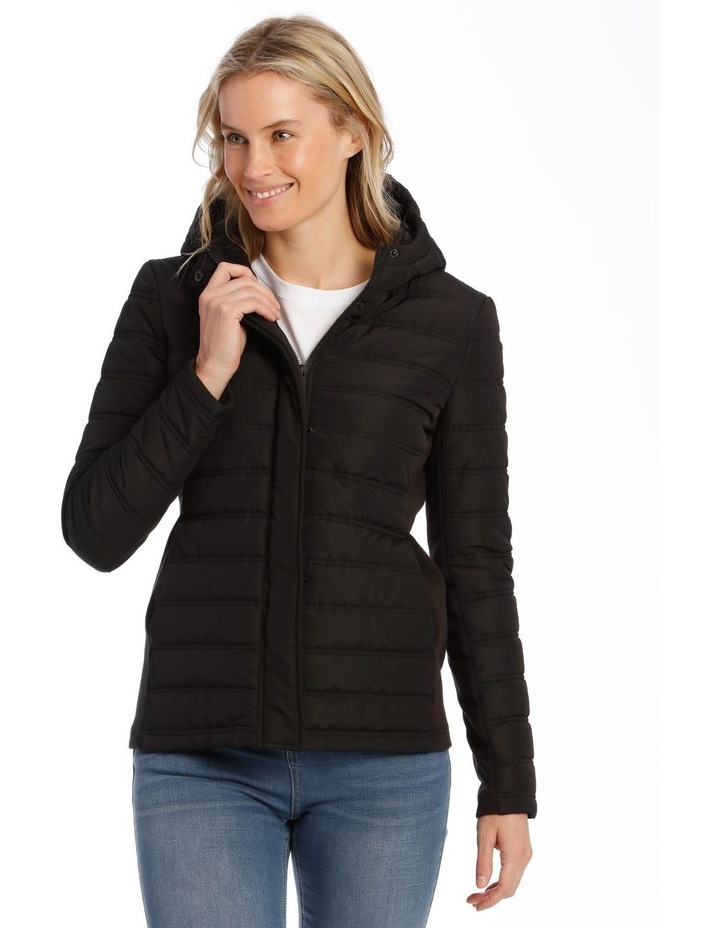 Quilted Rib Side Jacket With Hood image 1