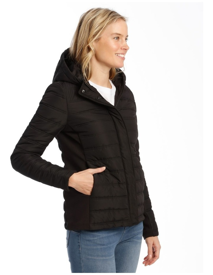Quilted Rib Side Jacket With Hood image 2