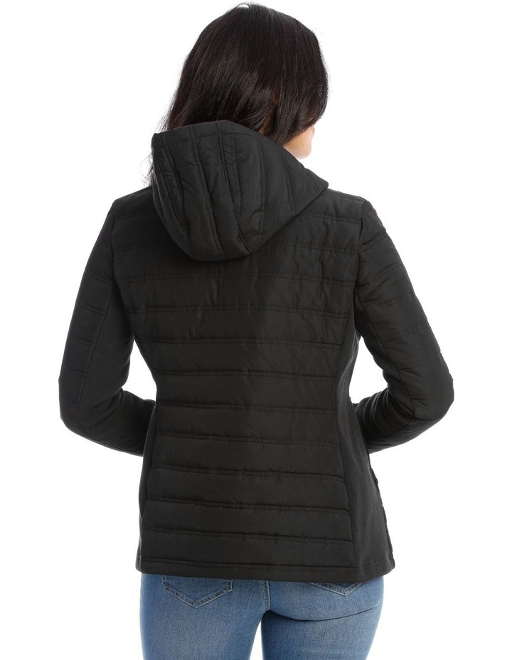 Quilted Rib Side Jacket With Hood image 3
