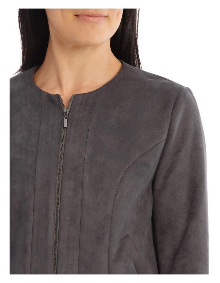 Zip Front Mock Suede Jacket image 4