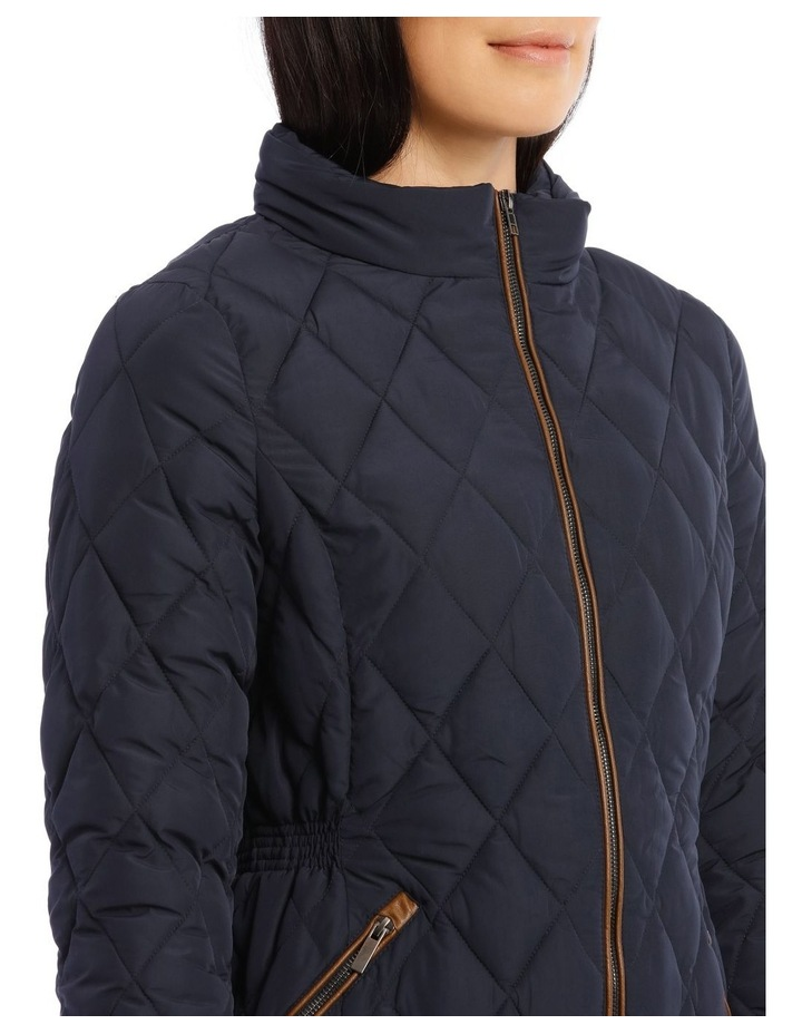 Mottled Marble Long Ling Diamond Quilt Jacket image 4