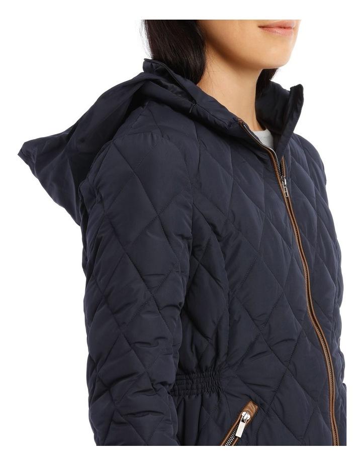 Mottled Marble Long Ling Diamond Quilt Jacket image 5
