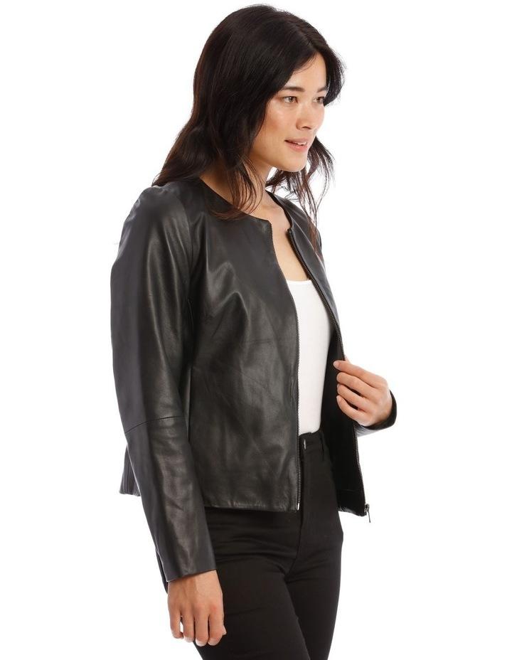 Zip Through Leather Jacket image 2