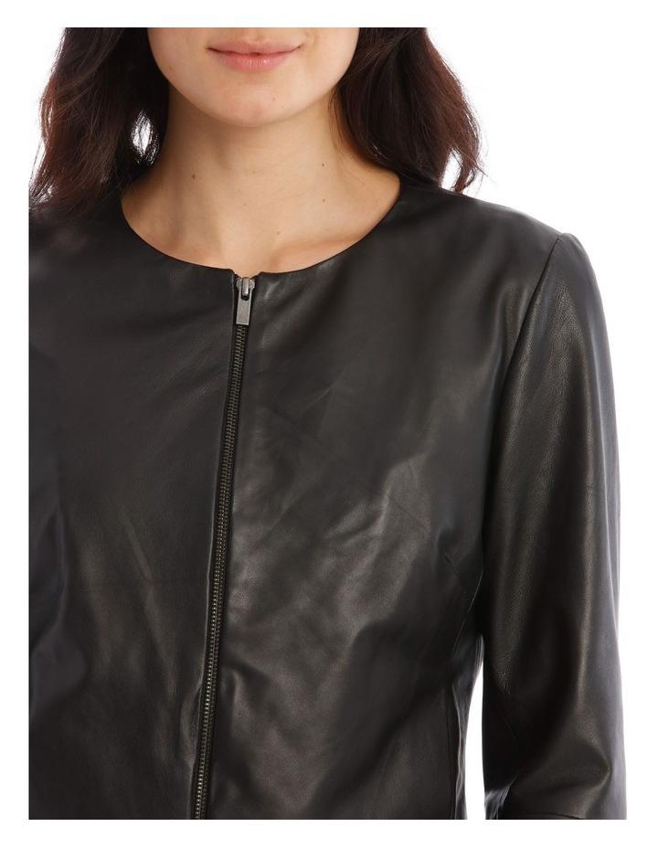 Zip Through Leather Jacket image 4