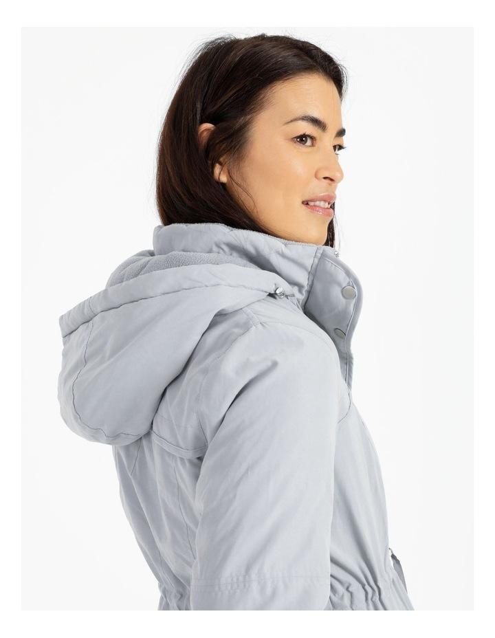 Ochre Dawn Long Line Soft Fur Trim Jacket image 6