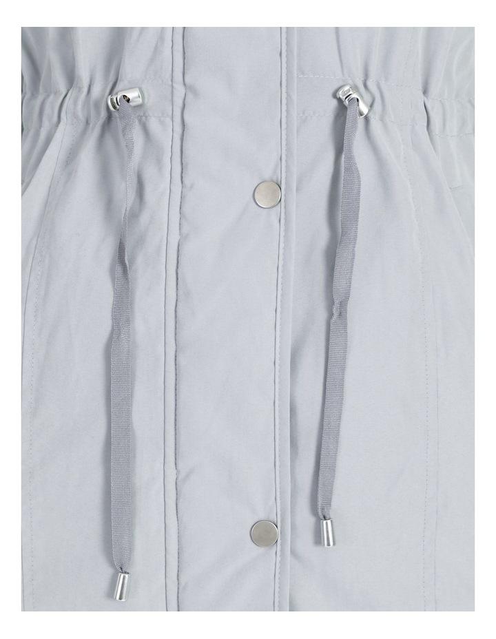 Ochre Dawn Long Line Soft Fur Trim Jacket image 7