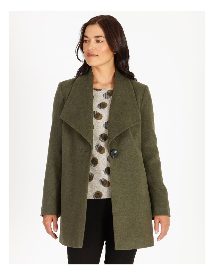 Olive Grove Shawl Collar Coat With Single Button image 1