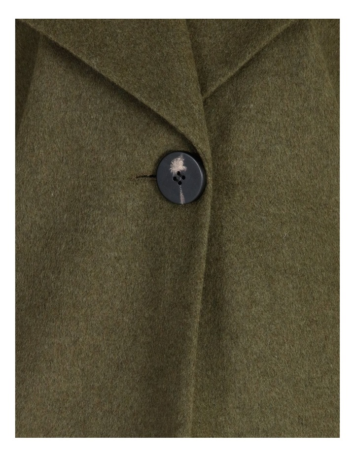 Olive Grove Shawl Collar Coat With Single Button image 6