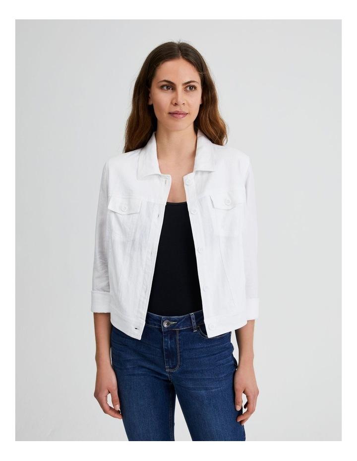Linen Blend Jean Style Jacket image 1