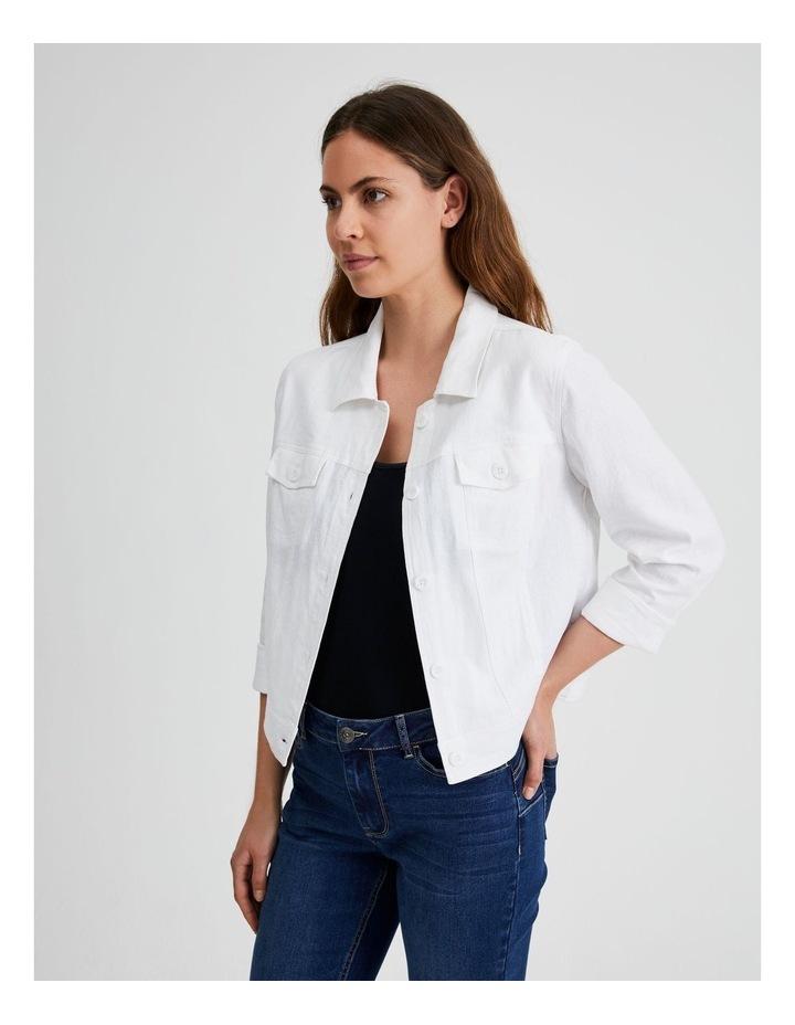 Linen Blend Jean Style Jacket image 2