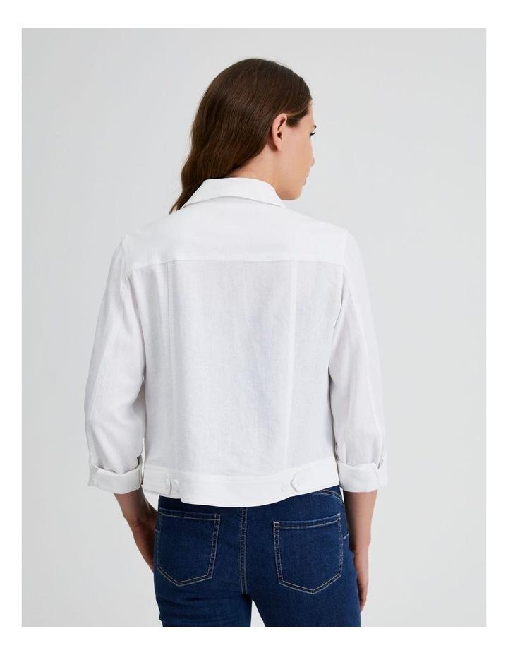 Linen Blend Jean Style Jacket image 3
