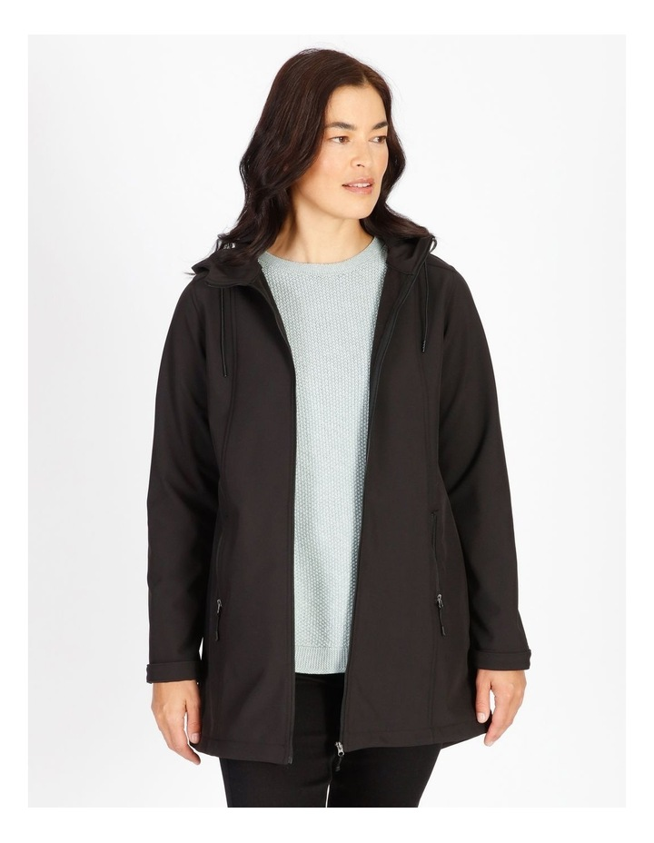 Olive Grove Shower Proof Princess Seam Hooded Jacket image 1