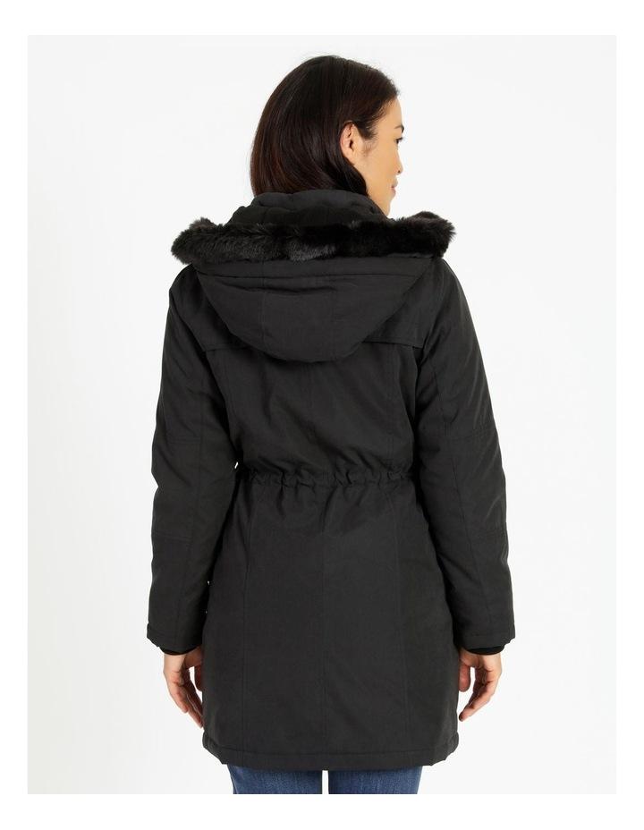 Long Line Soft Fur Trim Jacket image 3