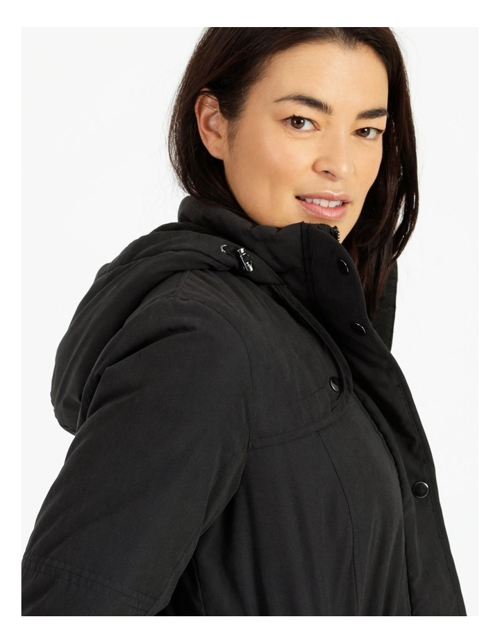 Long Line Soft Fur Trim Jacket image 6