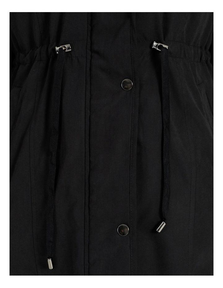 Long Line Soft Fur Trim Jacket image 7