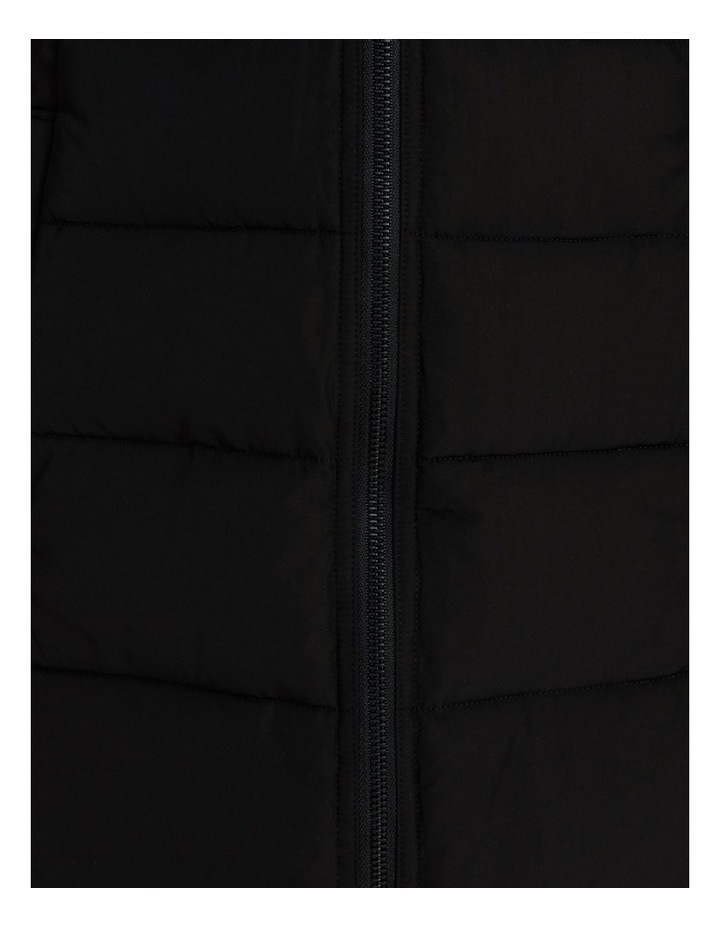 Long Line Straight Quilted Jacket With Fold Away Hood image 7