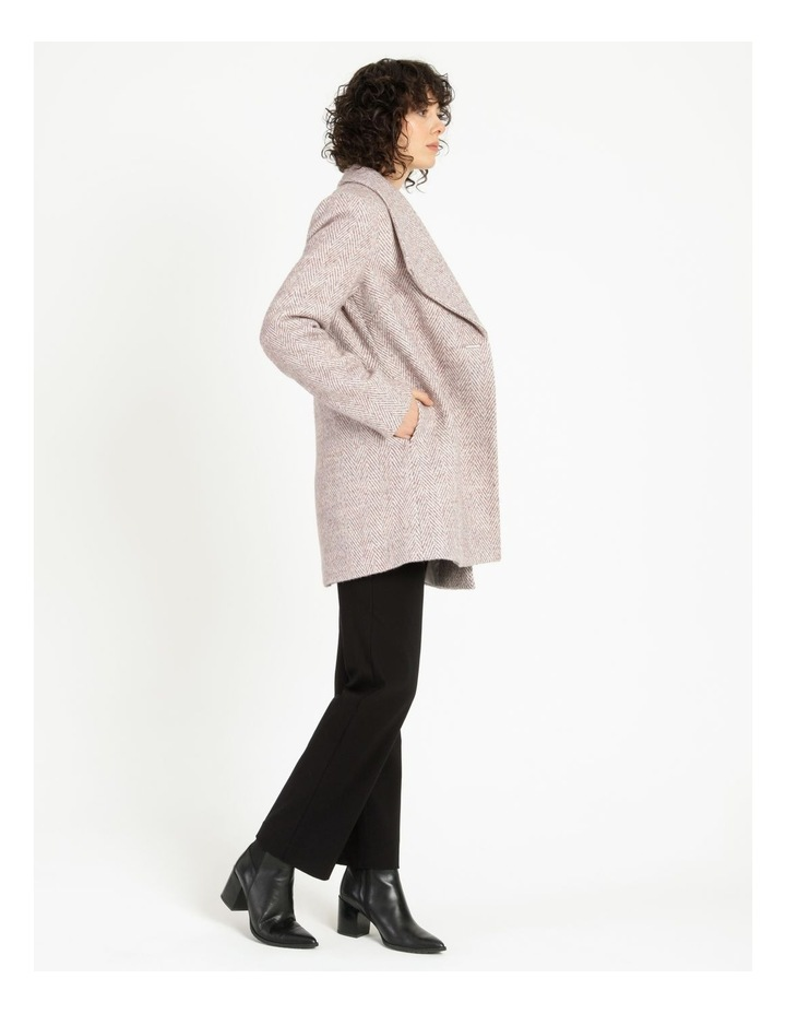 Confluence Shawl Collar Coat With Single Button image 4