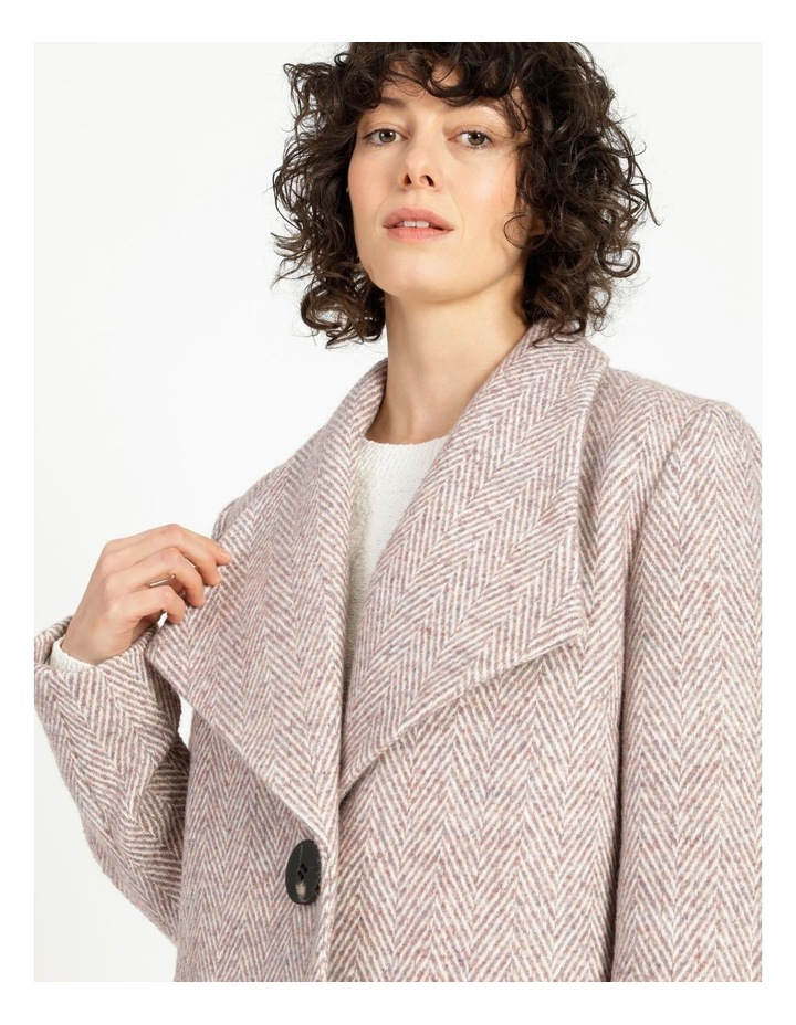 Confluence Shawl Collar Coat With Single Button image 6