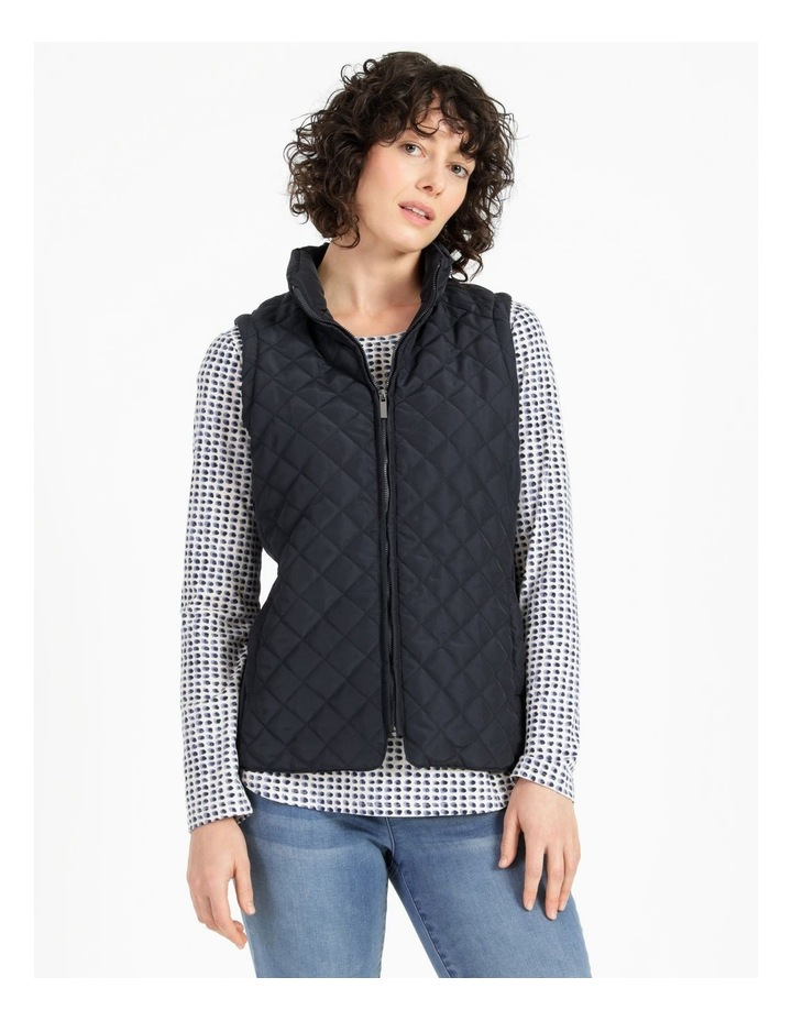Diamond Quilted Vest With Rib Sides image 4