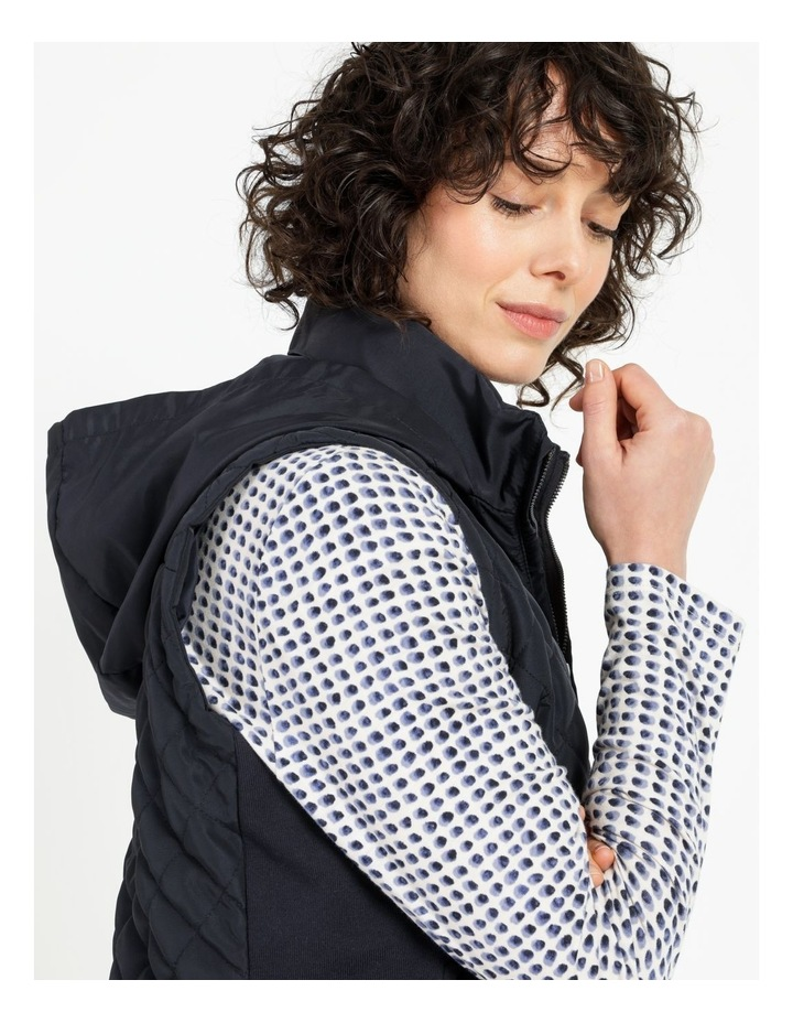 Diamond Quilted Vest With Rib Sides image 6