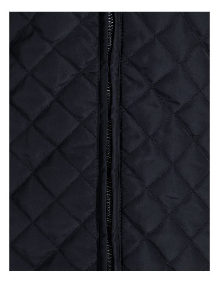 Diamond Quilted Vest With Rib Sides image 7