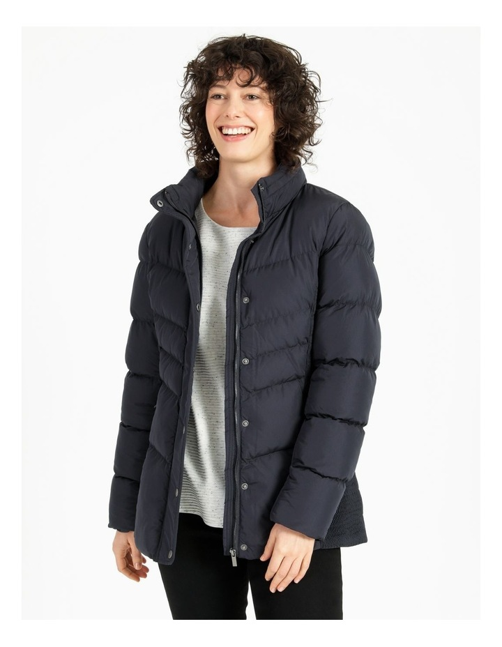 Puffer Jacket With Shirred Panels & Fold Out Hood image 1