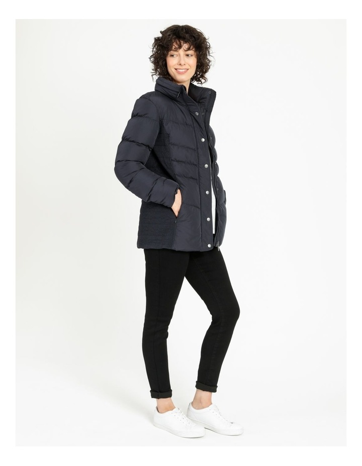 Puffer Jacket With Shirred Panels & Fold Out Hood image 2