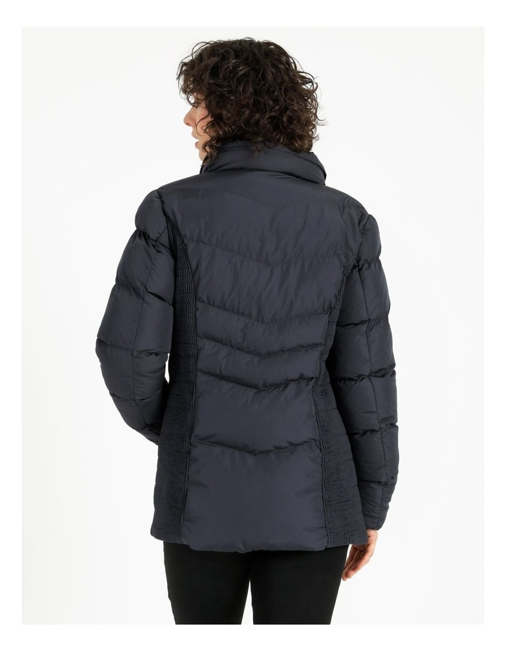Puffer Jacket With Shirred Panels & Fold Out Hood image 3