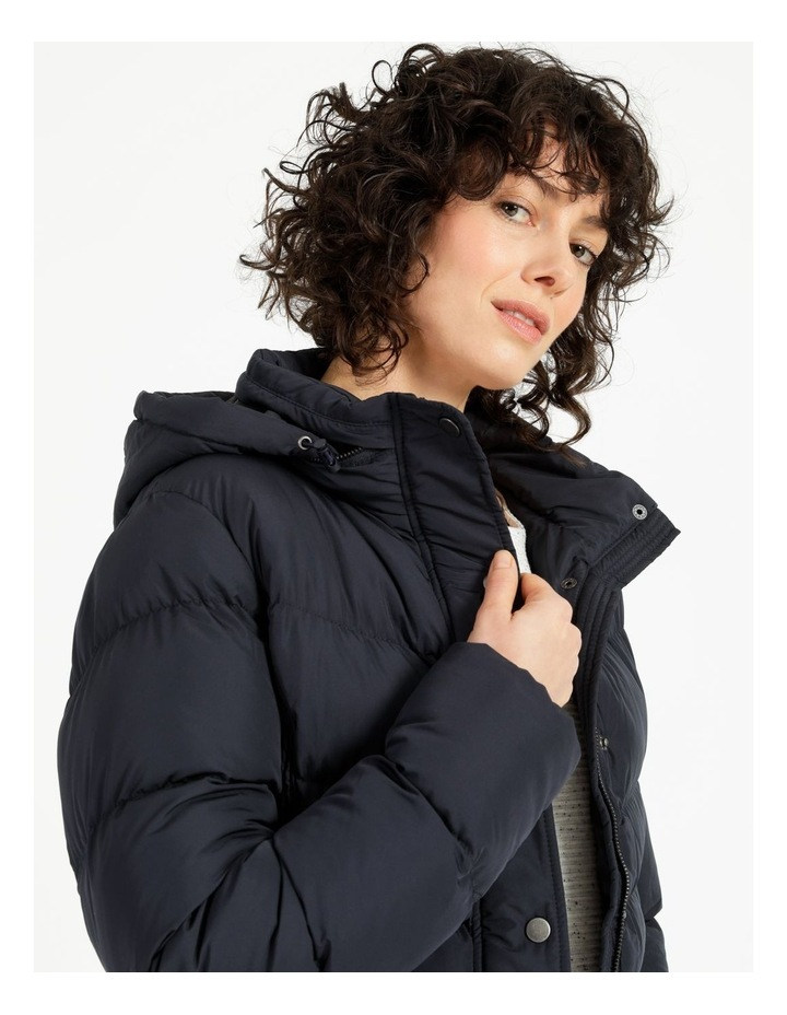 Puffer Jacket With Shirred Panels & Fold Out Hood image 5