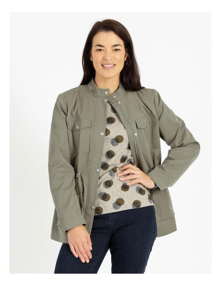 Light Weight Lined Jacket Khaki image 1