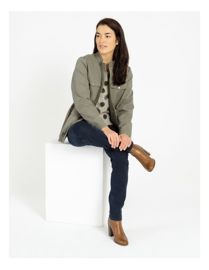 Light Weight Lined Jacket Khaki image 2