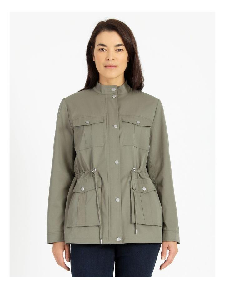 Light Weight Lined Jacket Khaki image 3