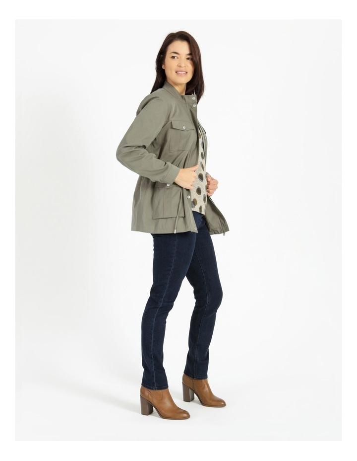 Light Weight Lined Jacket Khaki image 4