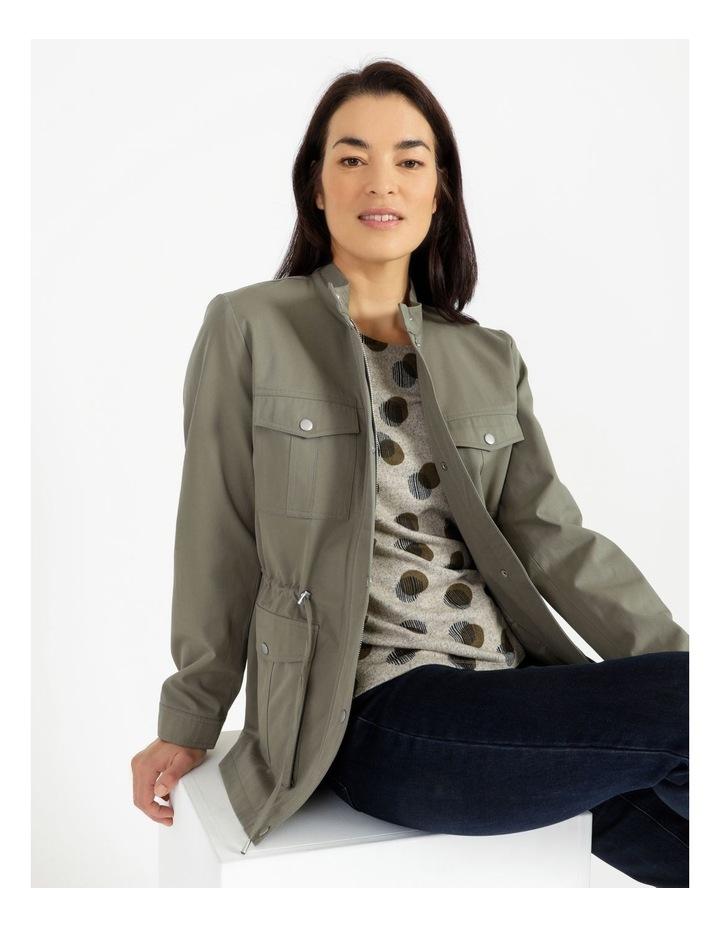 Light Weight Lined Jacket Khaki image 6