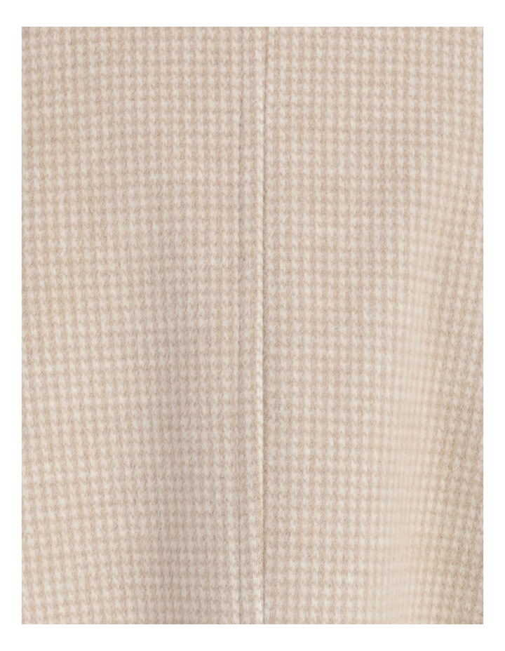 Funnel Neck Wrap Front Jacket Neutral Check image 7