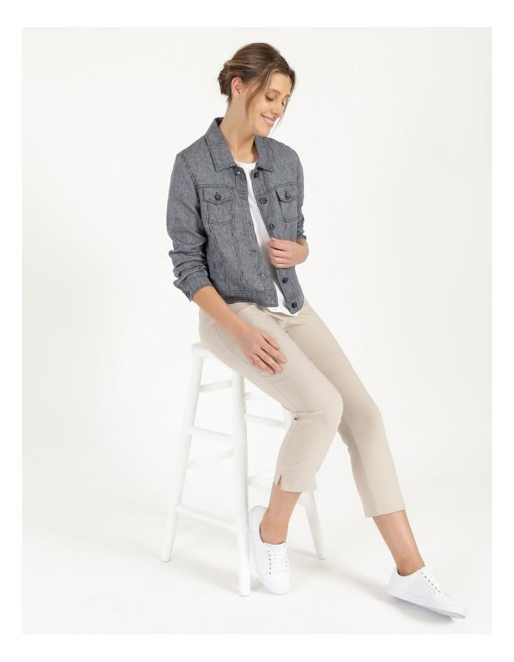 Linen Blend Jean Style Jacket Navy image 1