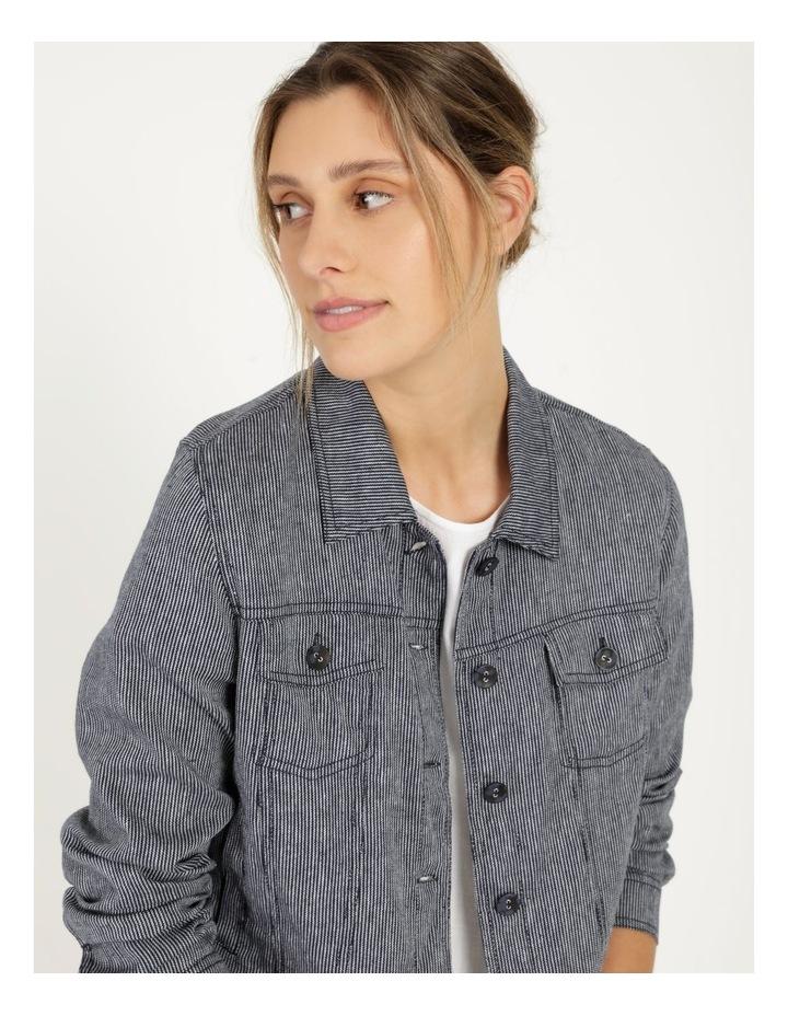 Linen Blend Jean Style Jacket Navy image 2