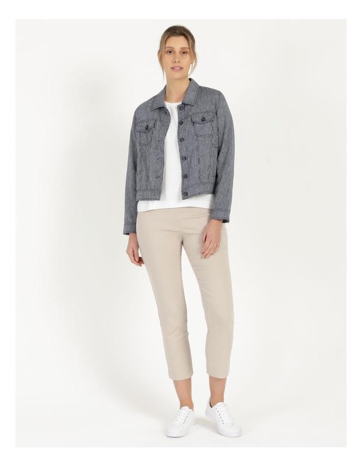 Linen Blend Jean Style Jacket Navy image 3