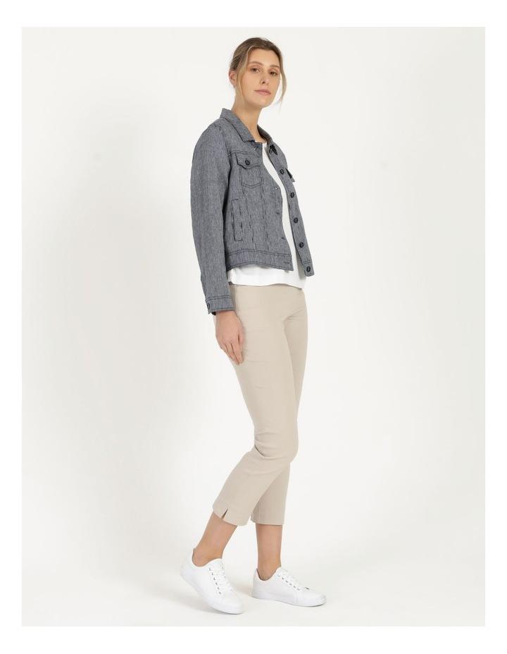 Linen Blend Jean Style Jacket Navy image 5