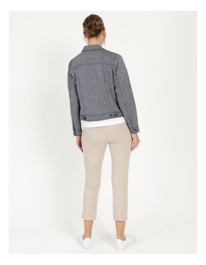 Linen Blend Jean Style Jacket Navy image 6