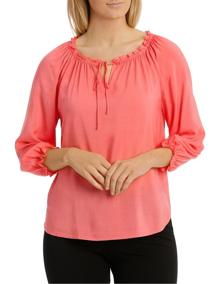 Solid Soft 3/4 Sleeve Top image 1