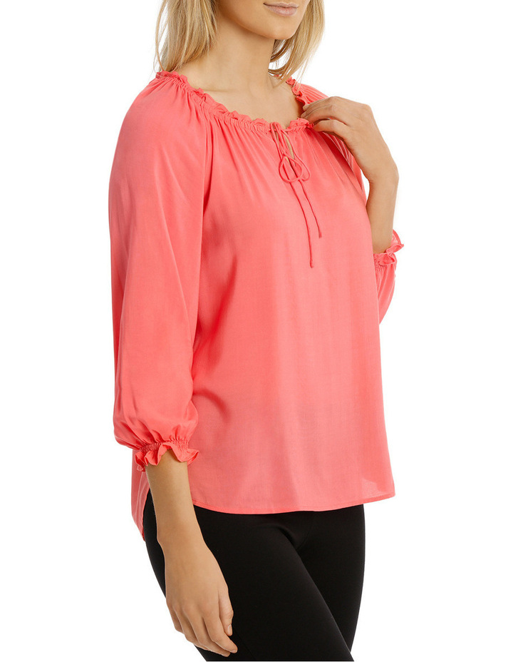 Solid Soft 3/4 Sleeve Top image 2