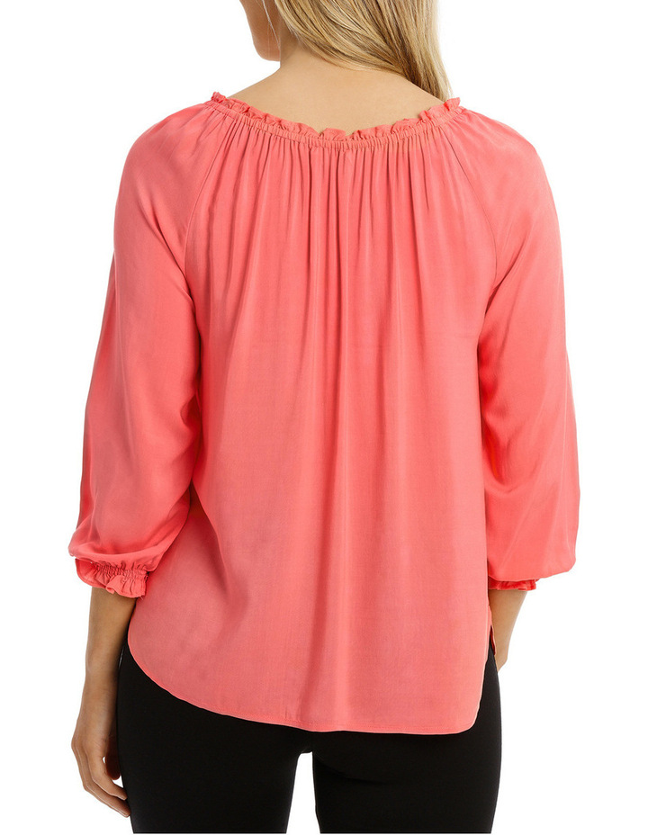 Solid Soft 3/4 Sleeve Top image 3