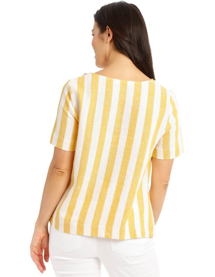 Side Button Short Sleeve Shell Top image 3