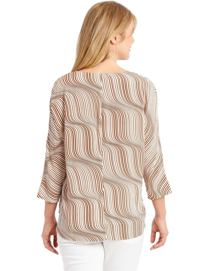 Magyar Sleeve Button-Up Top - Earth Squiggle image 3
