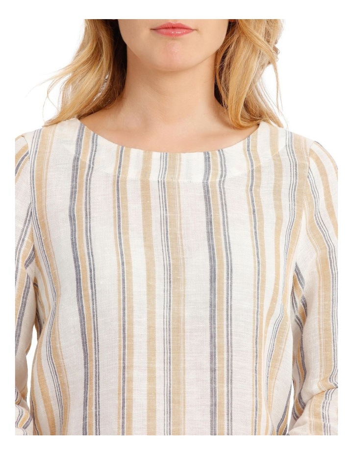 Tied 3/4 Curved Hem Woven Top image 4
