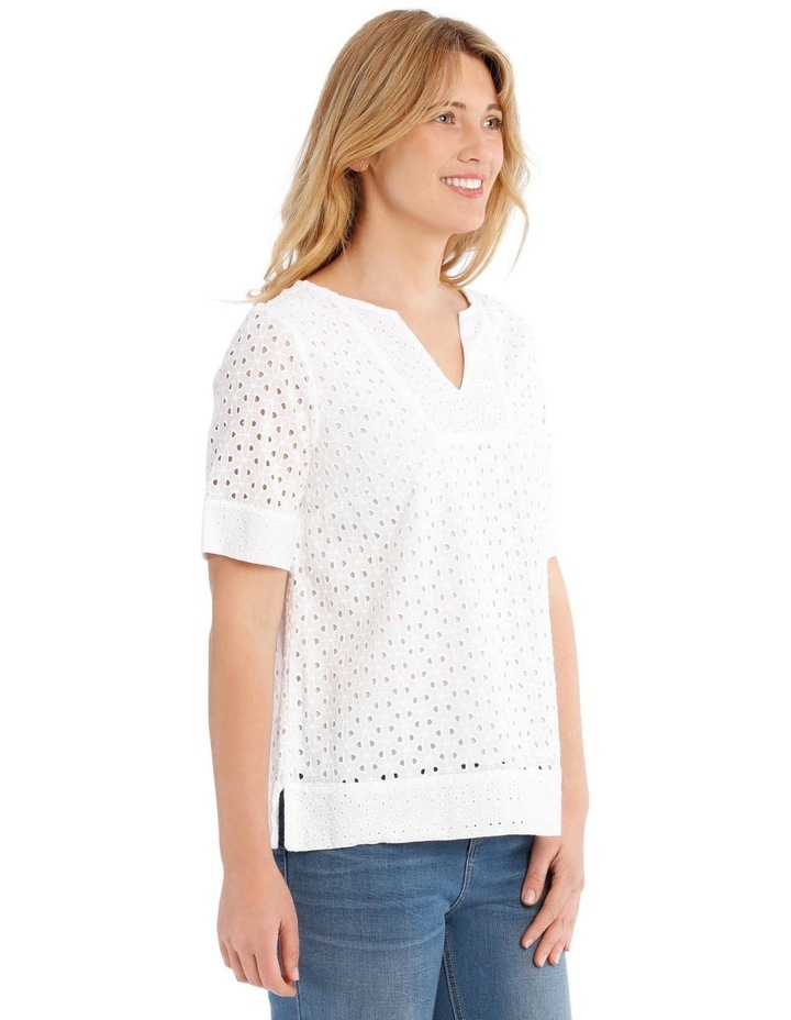 Short Sleeve Broderie Top image 2