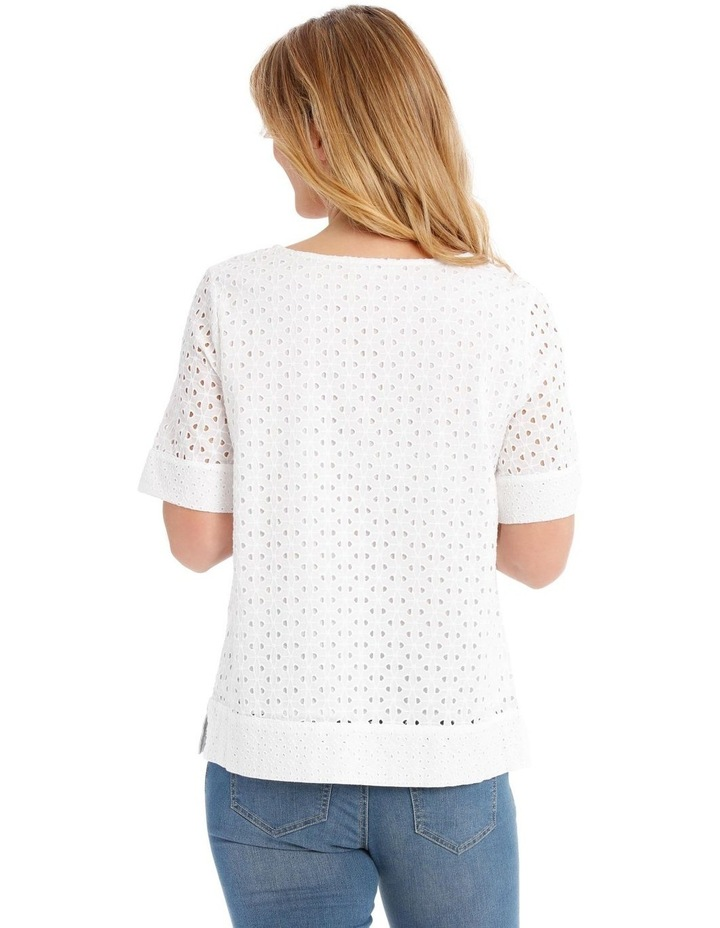 Short Sleeve Broderie Top image 3
